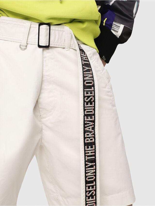 Diesel - P-TOSHI-SHORT, White - Shorts - Image 3