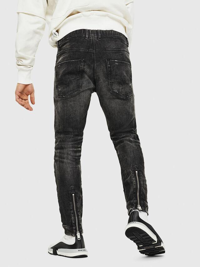 Diesel - Dvl-Krooley JoggJeans 0077S, Black/Dark grey - Jeans - Image 2