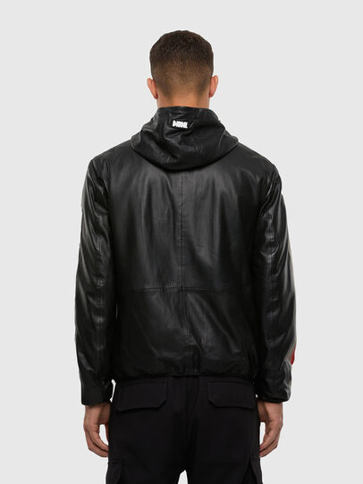 Diesel - L-MATHIAS, Black - Leather jackets - Image 2