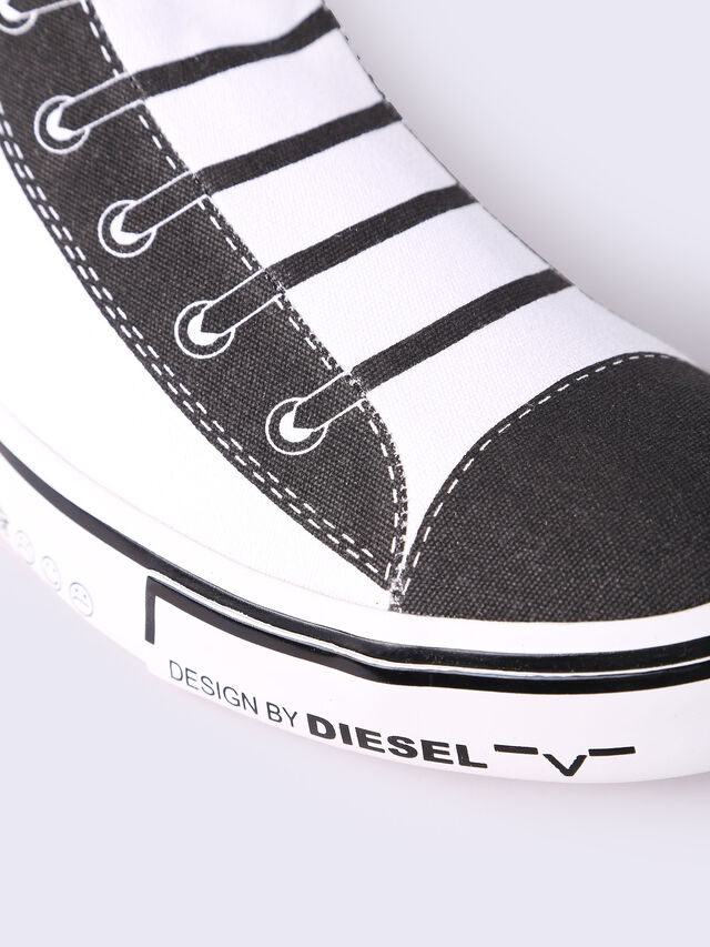 S-DIESEL IMAGINEE MID SLIP-ON, White/Black