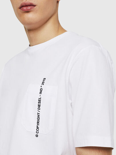 Diesel - T-JUST-POCKET-COPY, White - T-Shirts - Image 3