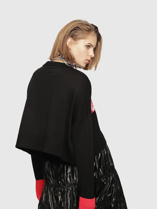 Diesel - M-TICX, Black/Red - Knitwear - Image 2