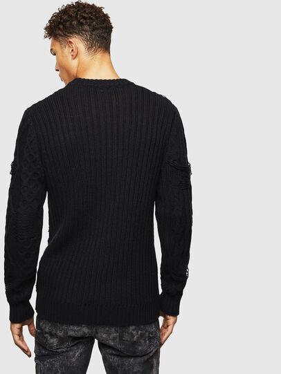 Diesel - K-BRIGLY, Black - Knitwear - Image 3