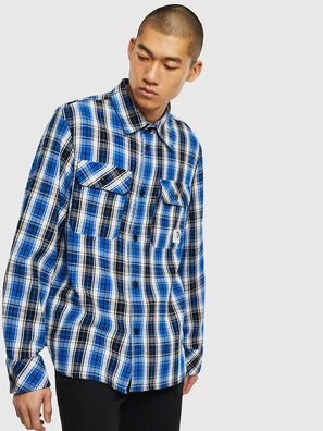 S-GERRY-CHECK, Blue/Black - Shirts