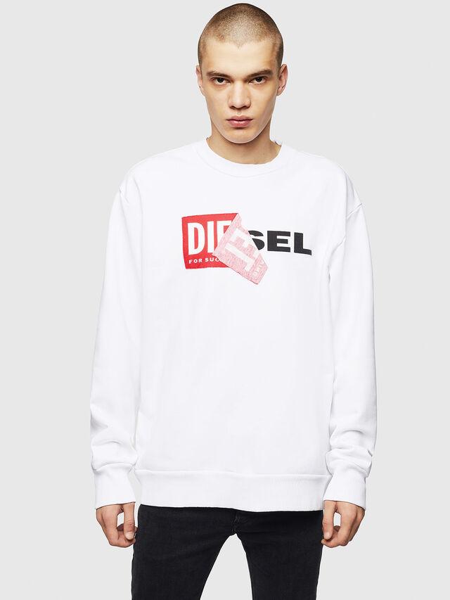 Diesel S-SAMY, White - Sweaters - Image 1