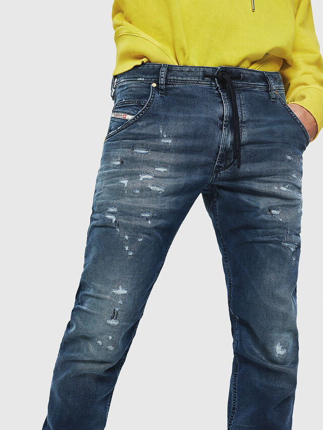 Diesel - Krooley JoggJeans 069HA, Medium blue - Jeans - Image 3