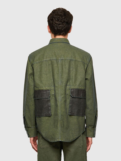 Diesel - D-CORU-SP, Military Green - Denim Shirts - Image 2