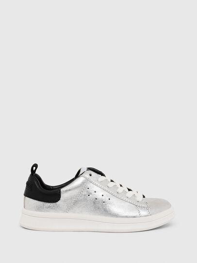 Diesel - SN LOW LACE 11 FULL, Silver/Black - Footwear - Image 1