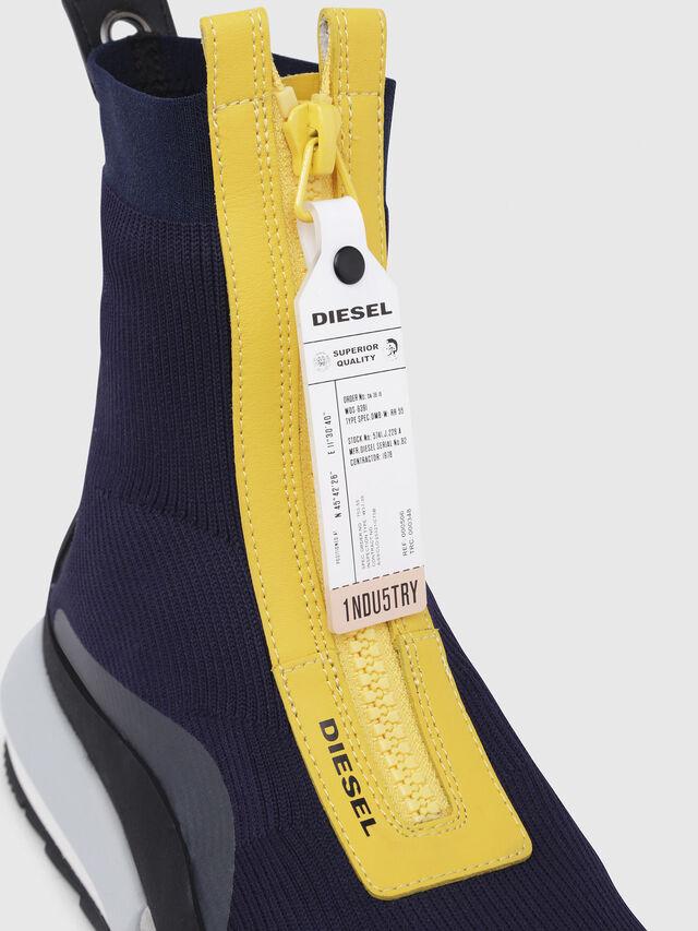 Diesel - H-PADOLA MID ZIP, Blue/Yellow - Sneakers - Image 4