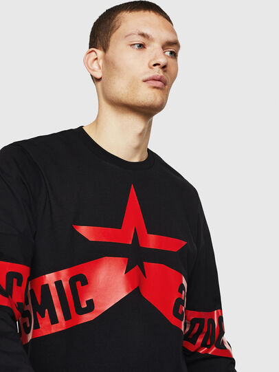 Diesel - T-JUST-LS-STAR, Black - T-Shirts - Image 3