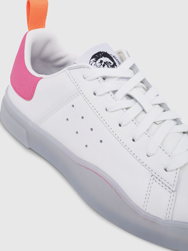 Diesel - S-CLEVER LOW W, White/Pink - Sneakers - Image 4