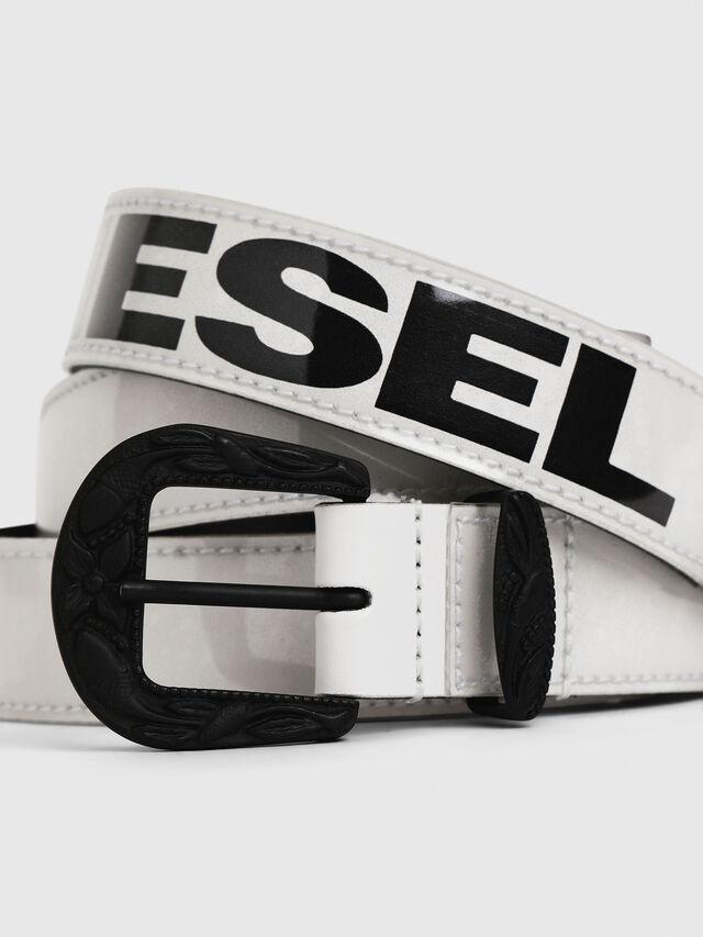 Diesel - B-STIC-F, White/Black - Belts - Image 2