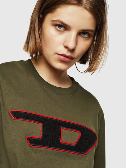 Diesel - T-JUST-DIVISION-D-FL, Military Green - T-Shirts - Image 3