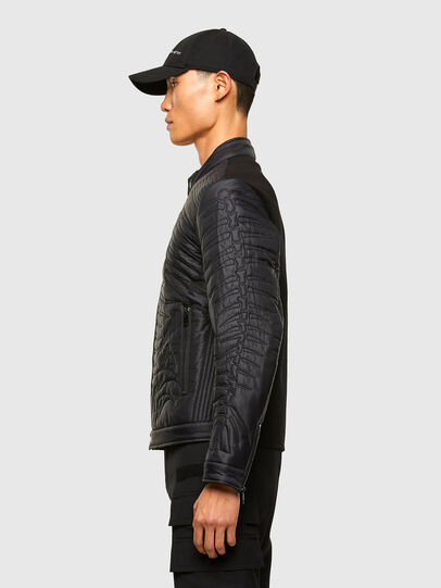 Diesel - W-SHARK, Black - Winter Jackets - Image 5