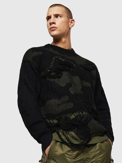 Diesel - K-MUSCHIO, Black - Knitwear - Image 1