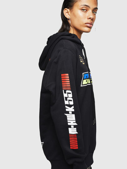 Diesel - ASTARS-F-GIR-HOOD-FL, Black - Sweaters - Image 3