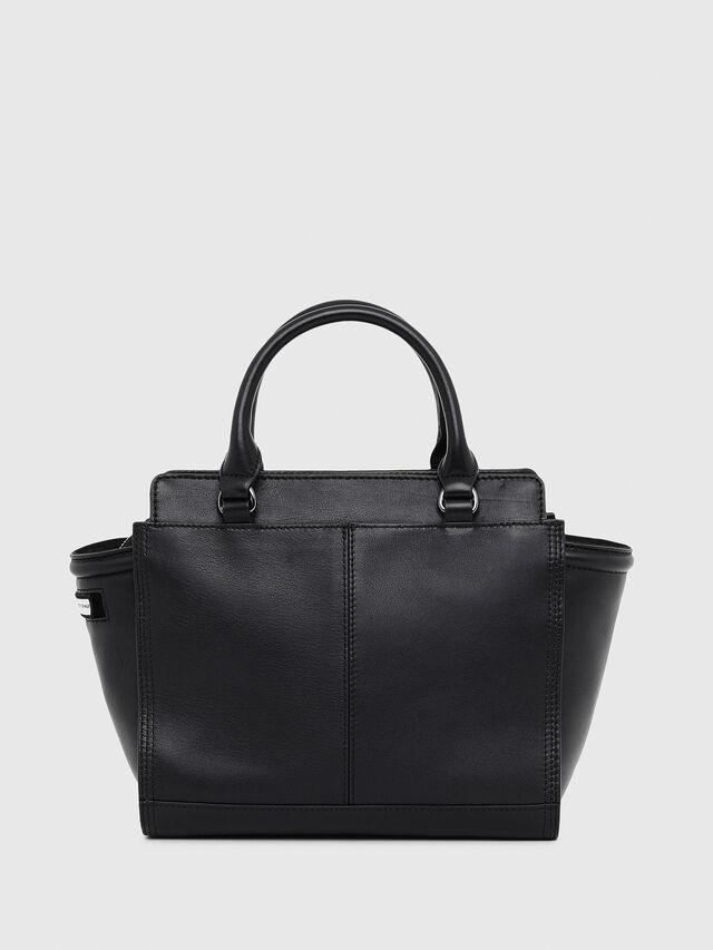 Diesel - LE-ZIPPER SATCHEL S, Black - Shopping and Shoulder Bags - Image 2