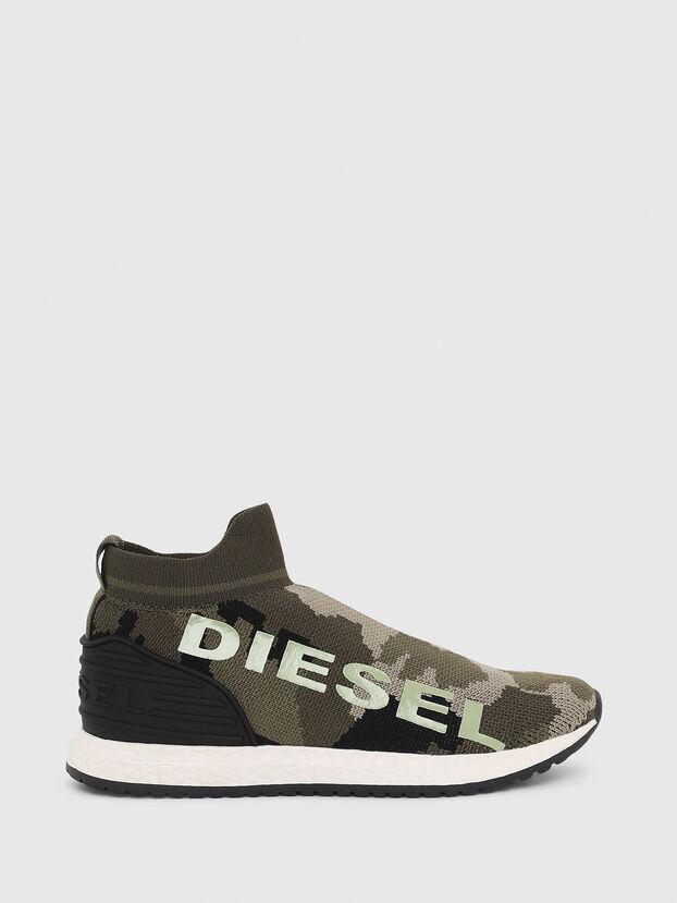 SLIP ON 03 LOW SOCK, Green Camouflage - Footwear