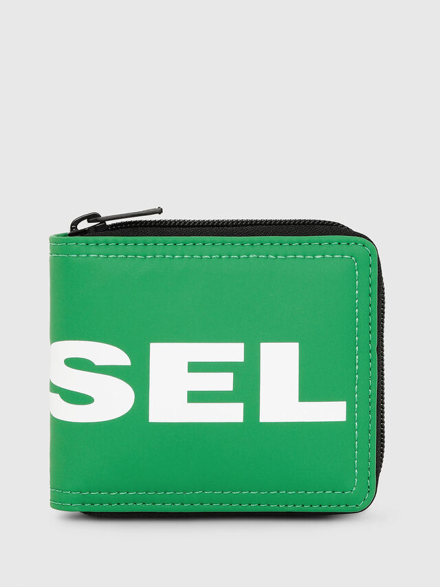 Diesel - ZIPPY HIRESH S, Green - Zip-Round Wallets - Image 1