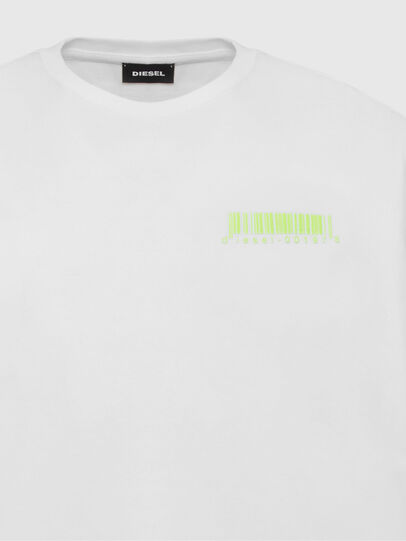 Diesel - T-JUST-SLITS-X84, White - T-Shirts - Image 3