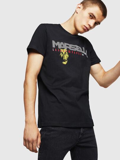 Diesel - LCP-T-DIEGO-MARSELLA, Black - T-Shirts - Image 1