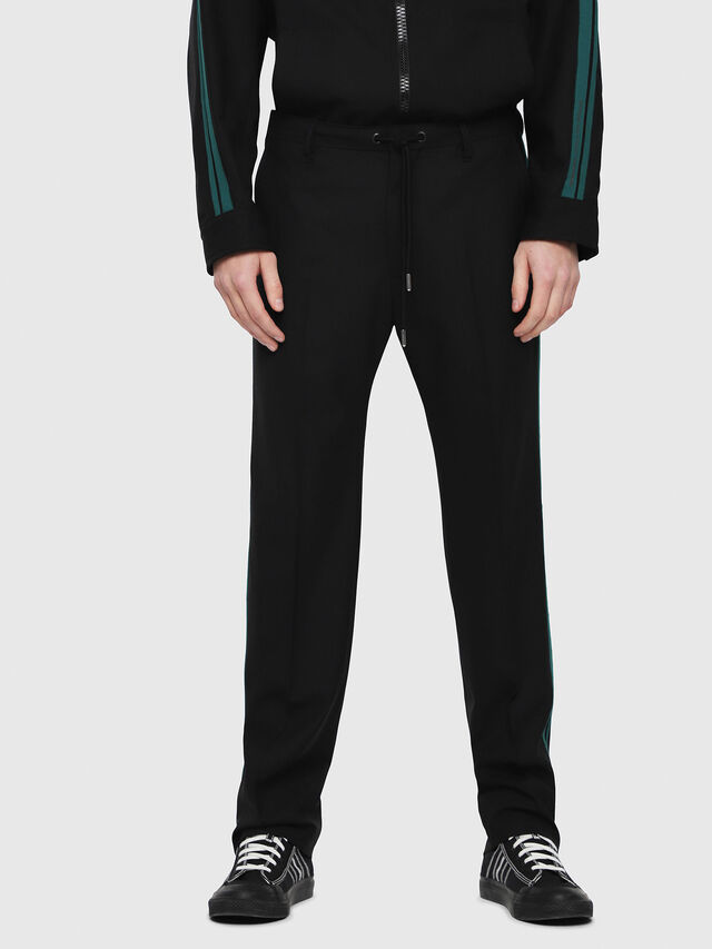Diesel - P-ARK, Black/Green - Pants - Image 1