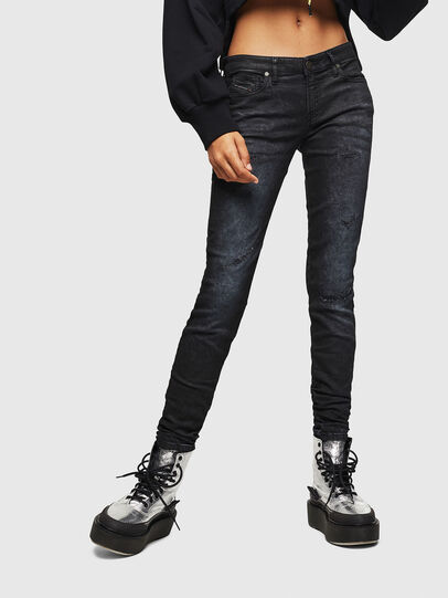 Diesel - Gracey JoggJeans 069GP, Black/Dark grey - Jeans - Image 1