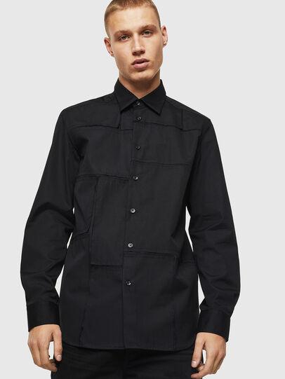 Diesel - S-AUDREY, Black - Shirts - Image 1
