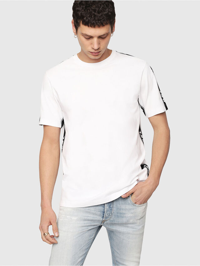 Diesel - T-JUST-RACE, White/Black - T-Shirts - Image 1