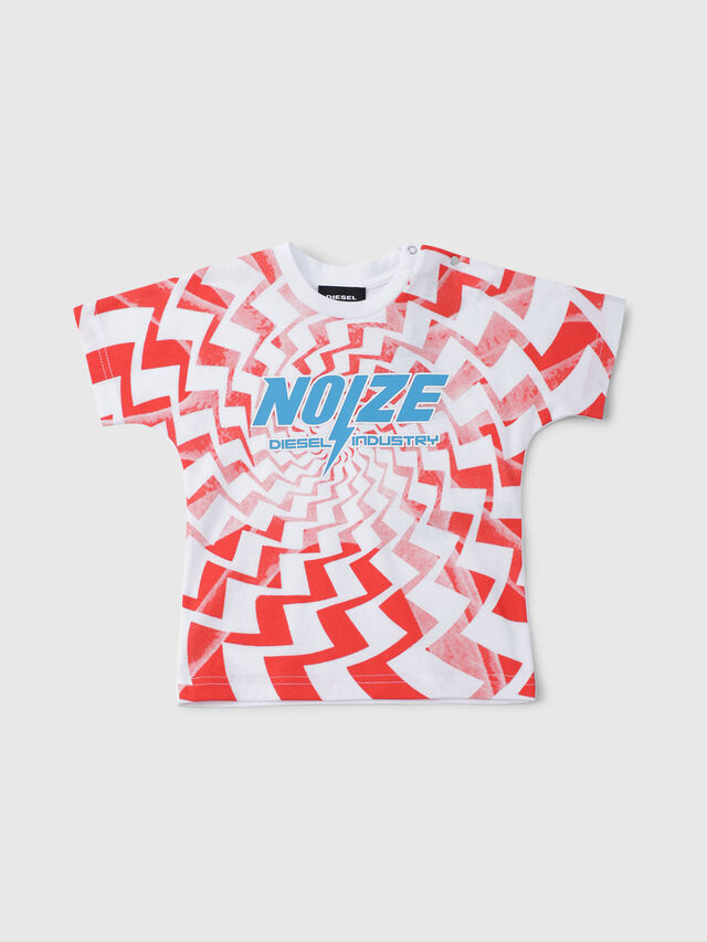 Diesel - TRUCCIB, White/Red/Blu - T-shirts and Tops - Image 1