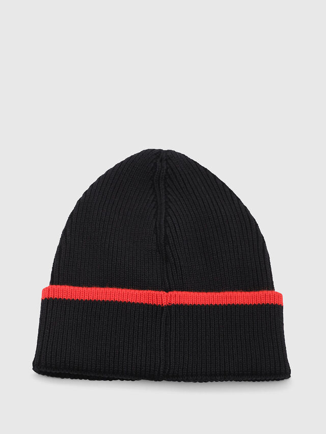 Diesel - DVL-BANY-CAPSULE, Black/Red - Knit caps - Image 2