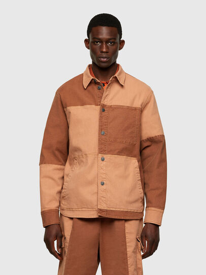 Diesel - D-CORUS-SP JOGGJEANS, Brown - Denim Shirts - Image 1