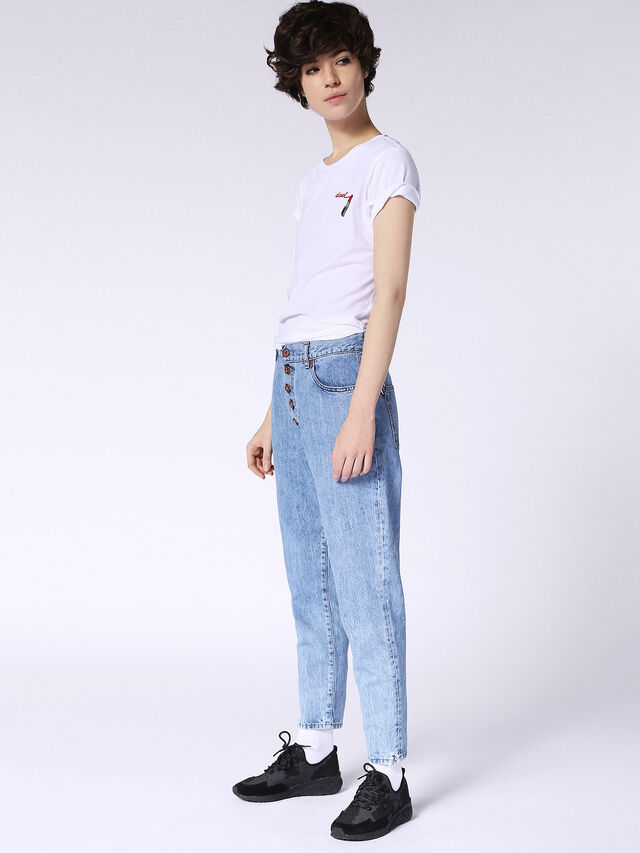 Diesel - T-SILY-F, White - T-Shirts - Image 4