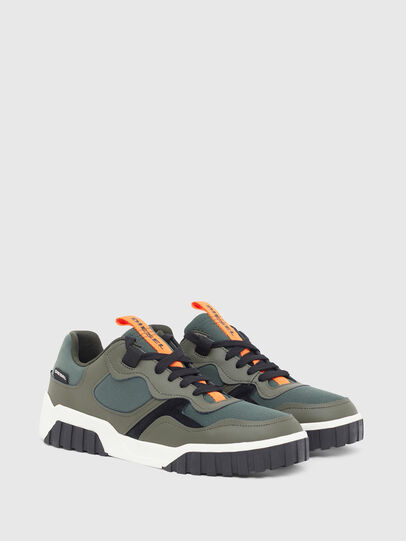Diesel - S-RUA LOW SK, Olive Green - Sneakers - Image 2