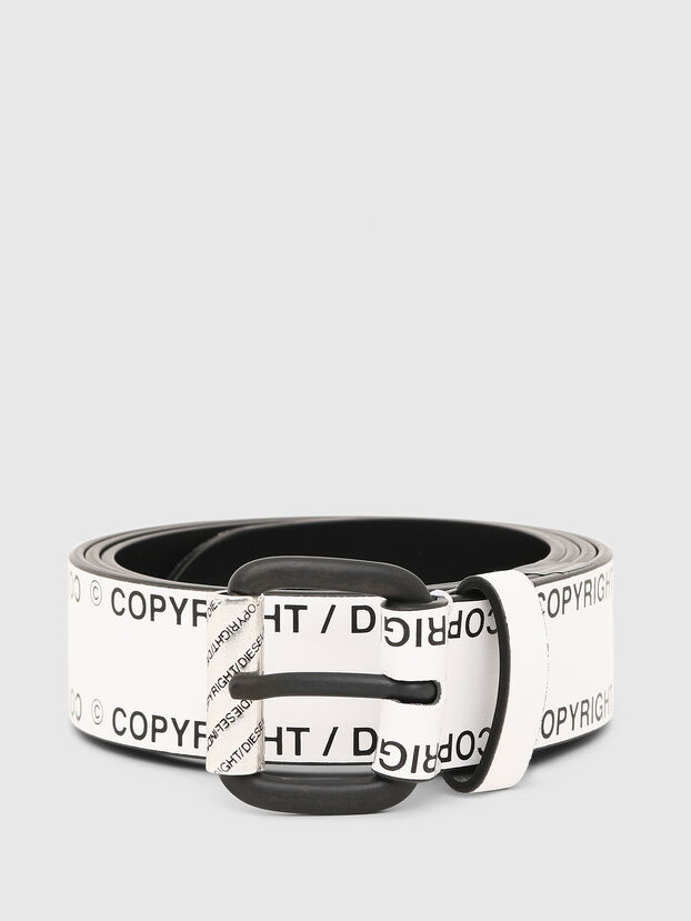 B-FULCOPY, White/Black - Belts