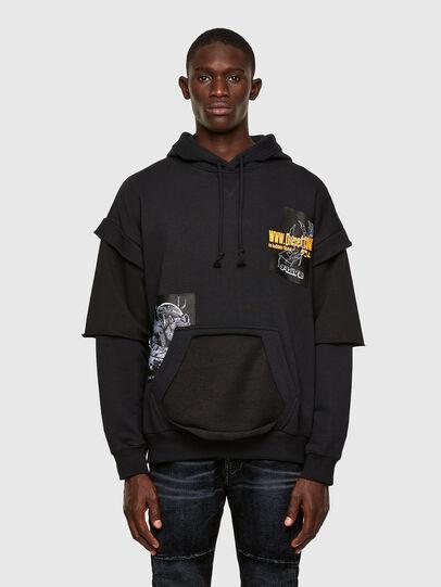 Diesel - S-UBBER, Black - Sweaters - Image 1