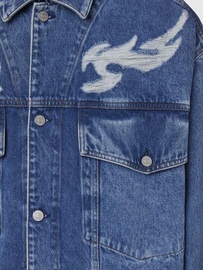 Diesel - D-RAF, Medium blue - Denim Jackets - Image 4