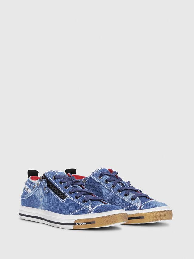 Diesel - EXPO-ZIP LOW W, Blue Jeans - Sneakers - Image 2
