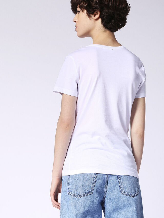 Diesel - T-SILY-F, White - T-Shirts - Image 3