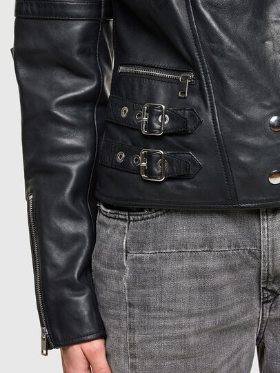 Diesel - L-IGE-NEW-A, Black - Leather jackets - Image 4