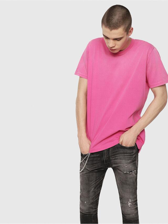 Diesel - T-SHIN, Hot pink - T-Shirts - Image 1