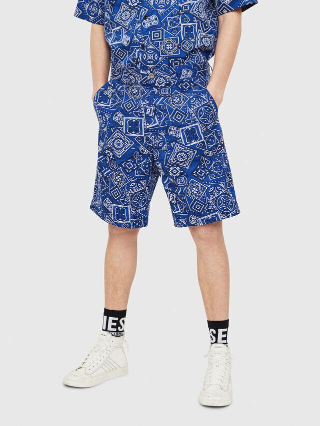 Diesel - P-FRANK-DNM-SHORT-P, Blue - Shorts - Image 1