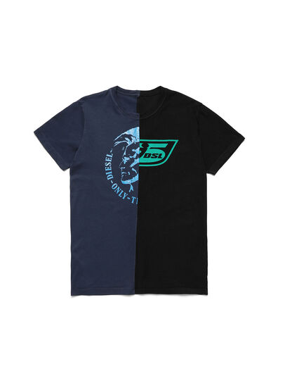 Diesel - D-MESO&MESO, Blue/Black - T-Shirts - Image 1