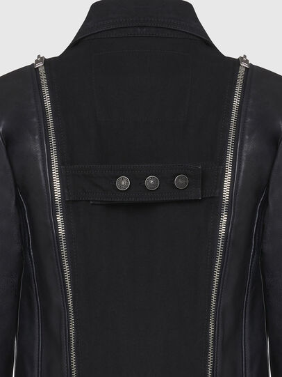 Diesel - L-LAZAY, Black - Leather jackets - Image 5